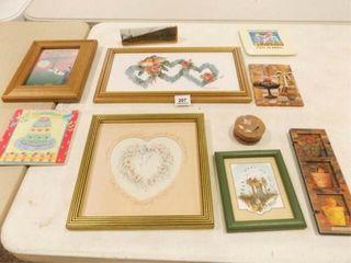 Decor Items   Friends  Floral  Framed Art