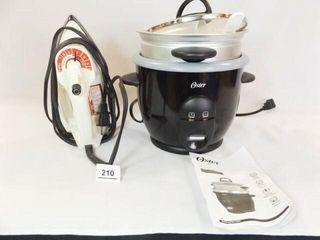 Oster Rice Cooker  Black   Decker Iron
