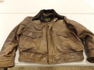 leather Bomber Jacket  large