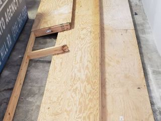 Plywood 2x4 Platforms   2 ft  x 15 ft    one is missing half of the plywood