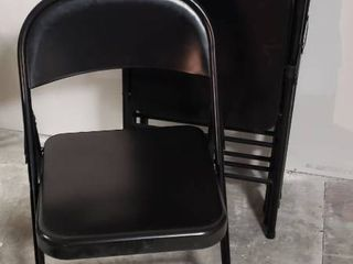 5 Black Cosco Metal Folding Chairs