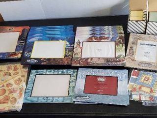 Travel Picture Frames and Scrapbook Paper   labels