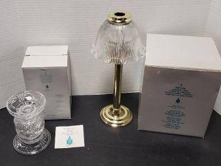 Partylite Candle Holders   P7405 Salzburg lead Crystal   P0126 library light