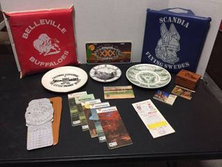Travel Memorabilia  Collector Plates  Vintage Air Navigation Computer  Post Cards  Stadium cushions