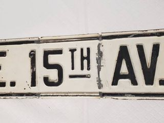 Vintage Metal Street Sign   20 x 6 in