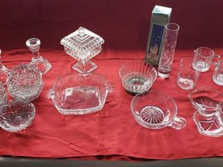 Clear Glass Dishes  Vases and Candle Sticks