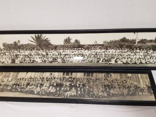 2 Framed Yard long Photographs   one is dated 1929