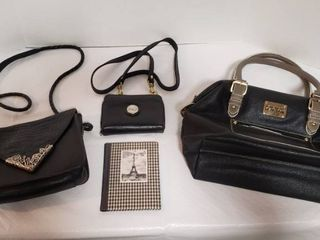 ladies Hand Bags   Kenneth Cole Reaction  Richard Bernardi    Valerie Stevens  all black leather  and Small Picture Album
