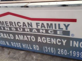lighted Can Commercial Sign   98 in  x 48 5 in  x 8 in  deep