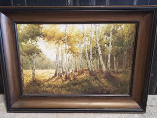 Aspen Oil Painting on Canvas   Painting  24 x 36 in    Frame  46 x 34 5 x 3 5 in  deep