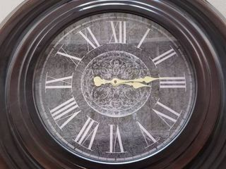 large Metal Framed Clock   29 5 in  diameter   Battery Operated