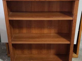 Heavy laminated Particle Board Bookcase w adjustable shelves   35 5 x 12 5 x 45 in  tall