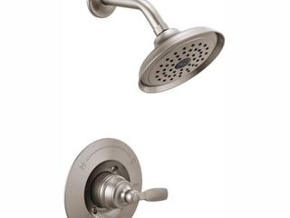 Delta Woodhurst 1 Handle Wall Mount Shower Trim Kit in Stainless  Valve Not Included