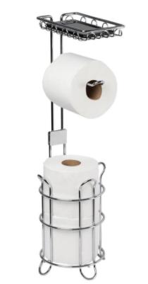 Giagni Chrome Freestanding Single Post Toilet Paper Holder