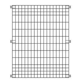 Origin Point by Ironcraft Multi Purpose Fence Panel 44in High x 36in Wide   Black