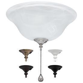 Harbor Breeze 3 light Alabaster Ceiling Fan light Kit with Bowl light Kit Glass or Shade
