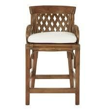 Plantation 24in counter stool with wood detailing