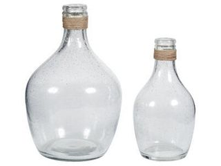 Set of Two Marcin Clear Vases