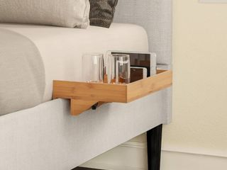 Bamboo Shelf w  Clamp on Floating Tray