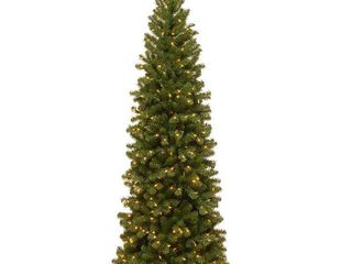 6 5ft Slim Spruce Tree w  Clear lights
