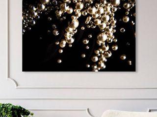 Framed Canvas Raining Beads