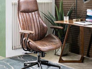 Ergonomic Suede Office Chair