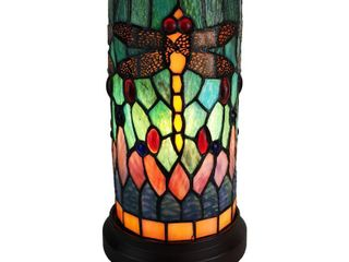 10in Stained Glass Nightstand
