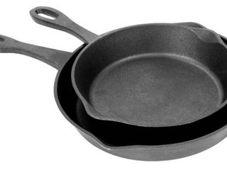 Two Piece Bayou Classic Cast Iron Skillets