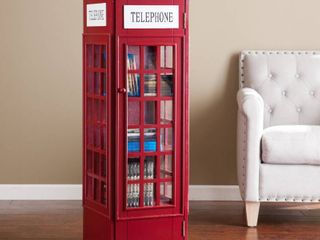 Red Phone Booth Media Storage Cabinet Retail 180 99