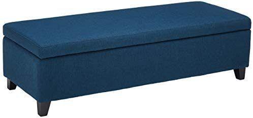 Christopher Knight Home York Fabric Storage Ottoman Bench  Blue Navy