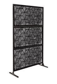 6ft x 4ft Free Standing laser Cut Metal Screen Panel Privacy Stand Retail 281 99