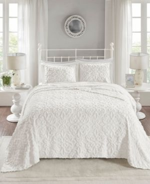 Madison Park Sarah Tufted Cotton Chenille Bedspread Set   Full Queen Retail 89 92