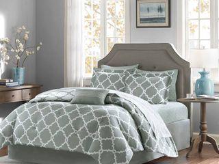 Gray Becker Complete Multiple Piece Comforter and Sheet Set  Full    9 Piece