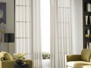 Curtainworks Soho Voile Solid Sheer Grommet Curtain Panels