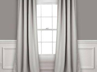 Set of 2  95x52  Insulated Grommet Top Blackout Curtain Panels light Gray   lush Decor