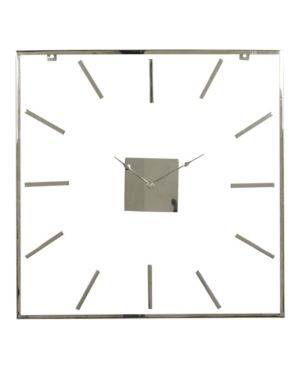 Extra large Square Metal Wall Clock with Clear Glass Face