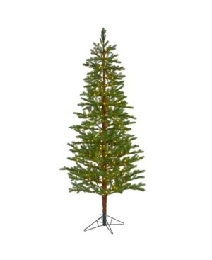 Nearly Natural Fairbanks Fir Artificial Christmas Tree with 350 Clear Warm Multifunction led lights and 280 Bendable Branches