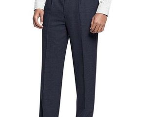 Navy Affinity Apparel Men s Pleated Pants   Size 42