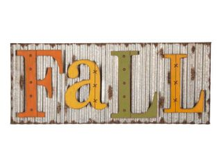 Glitzhome 36in Fall Metal Sign Hanging Decor