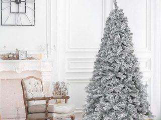 Green White Suncrown 7FT Premium Artificial Snow Flocked Christmas Tree Retail  129 99