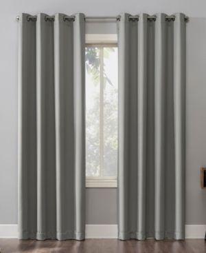 84x52 Oslo Theater Grade Extreme Blackout Grommet Top Curtain Panels Silver   Sun Zero