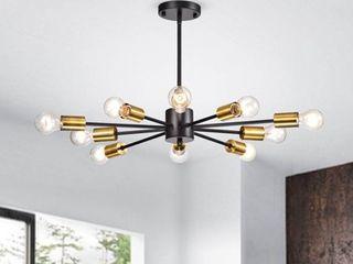 lorena Sputnik 10 light Chandelier in Black and Metallic Gold Finish Retail 102 99