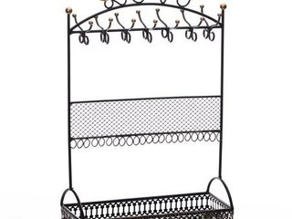 Metal Black Jewelry Display Stand Hanger Organizer with l O V E