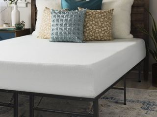 Twin 10 Inch Memory Foam Mattress with Bed Frame Set Crown Comfort Retail  272 49