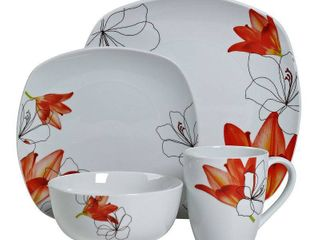 Tabletops Unlimited lily 16 Pc  Dinnerware Set  Service for 4