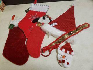 lot of Stockings  Santa Hat and Bells