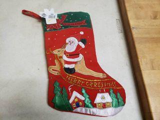 Santa on Reindeer Stocking
