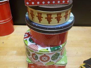 lot of Christmas Tins