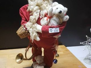 Wooden Santa Decor
