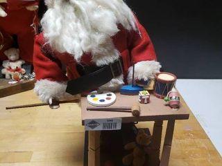 Wooden Santa Making Toys Decor